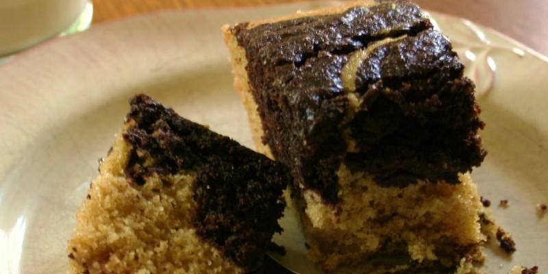 Super easy Chocolate Marble swirl cake