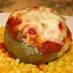 Stuffed Bell Peppers with Beef and Parsley