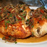 Chicken Chasseur with Muchroom White Wine Reduction