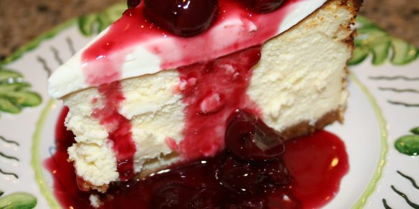 New York Cheesecake with Oregon Bing Cherry Sauce