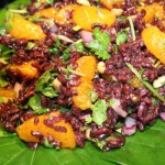 Black Rice salad with mandarin oranges and cilantro