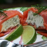 Salmon parcel with cream cheese