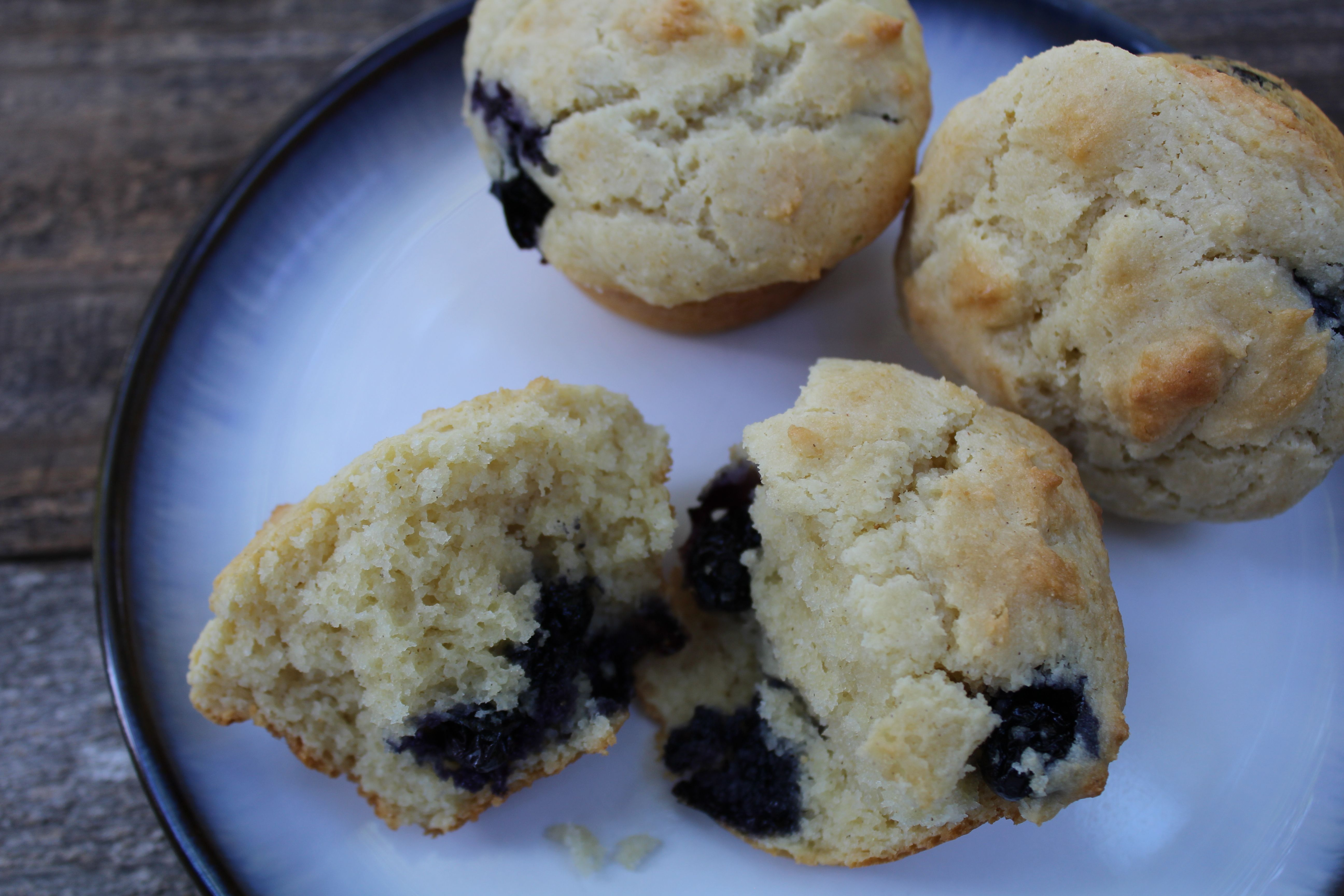 Blueberry Sour Cream Muffins, gluten free - KitchOut.com