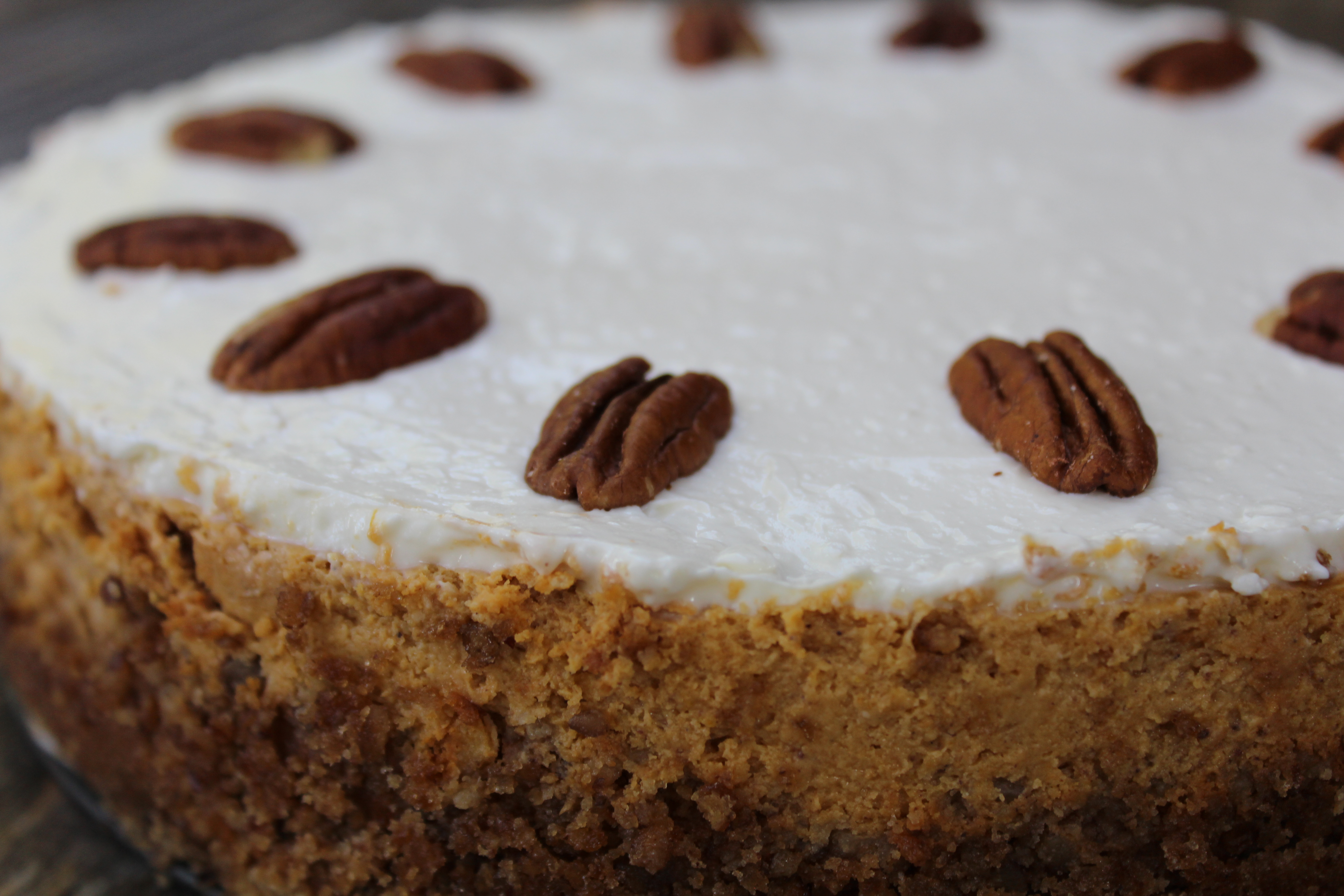 Pumpkin plus cream cheese plus pecans plus bourbon equals awesome...and gluten free, too!