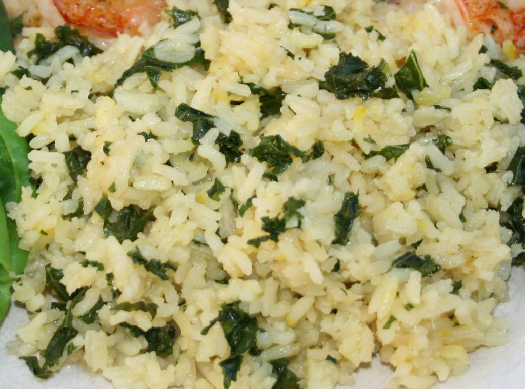 Saffron Pilaf with Shallot and Kale - KitchOut.com